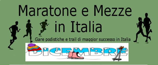 Calendario Mese Dicembre 2019.Calendario Del Mese Di Dicembre 2019 Delle Maratone E Delle